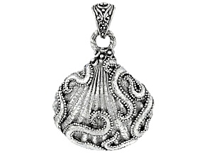 Sterling Silver Filigree Seashell Pendant