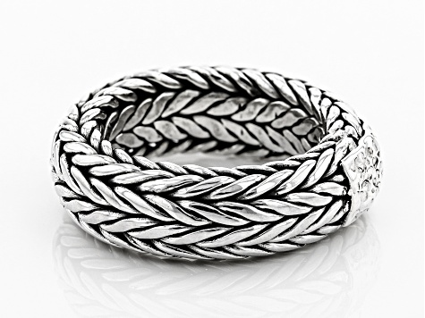 Sterling Silver Woven Band Ring