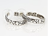 Sterling Silver J-Hoop Earrings