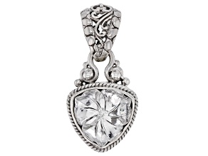 White Quartz Flower Silver Pendant 7.91ct
