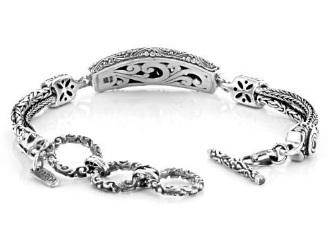 Oxidized Sterling Silver Filigree Bracelet