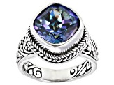 Blueicious™ Quartz Silver Solitaire Ring 4.68ctw