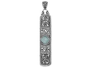 Aqua Blue Quartzite Silver Pendant