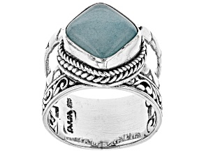 Aqua Blue Quartzite Silver Ring