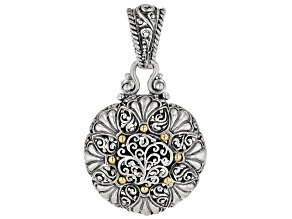 Sterling Silver with 18k Gold Accent Pendant