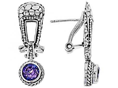 Talkative™ Mystic Topaz® Silver Drop Earrings 2.00ctw