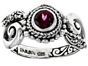 Purple Raspberry Rhodolite Garnet Silver Ring 0.64ct