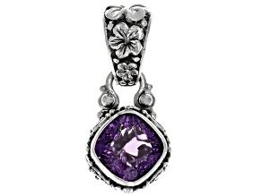 Purple Amethyst Silver Pendant 4.46ctw