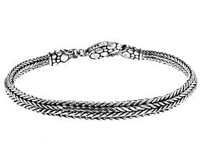 Sterling Silver Bali Snake Chain Bracelet