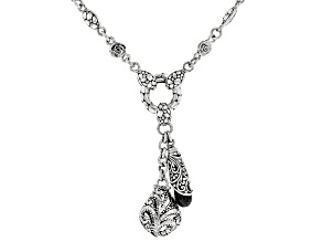 Black Spinel Sterling Silver Necklace 6.78ctw