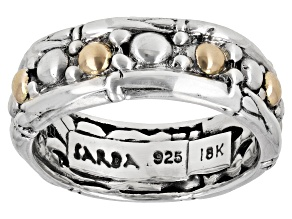 Sterling Silver with 18k Yellow Gold Accent Eternity Ring