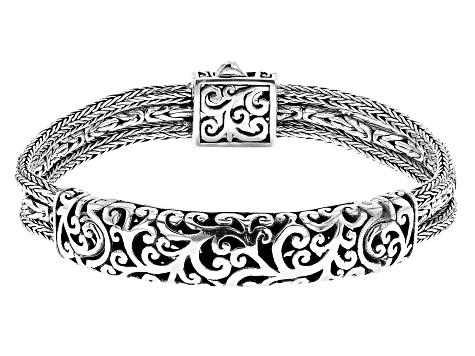 Silver Bangle unusual jewellery Jewellery Set Multi Strand Silver Necklace /& Bracelet Silver bracelet Silver Necklace Silver jewellery