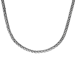 Sterling Silver Woven Bali Chain Necklace
