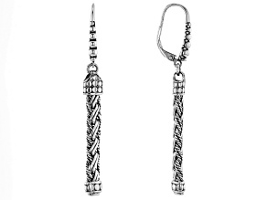 Sterling Silver Woven Bali Chain Earrings