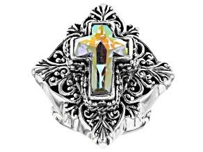 Zero Saturn™ Mystic Quartz® Silver Ring 3.23ctw