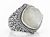 White Moonstone Silver Solitaire Ring 8.80ctw