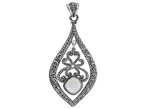 White Moonstone Silver Pendant 5.00ctw