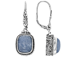 Cornflower Blue Quartzite Silver Earrings