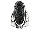 Black Obsidian Silver Ring