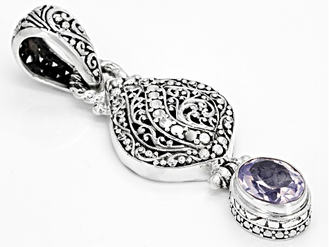 Purple Lavender Moon Quartz Silver Pendant 2.13ct