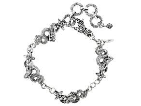 Sterling Silver Dragon Bracelet