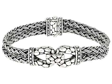 Sterling Silver Multi-Row Bracelet