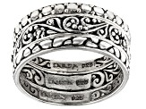 Sterling Silver Band Ring Set Of Three