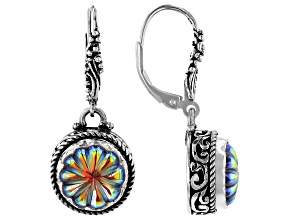 Zero Saturn™ Mystic Quartz® Silver Earrings 5.76ctw