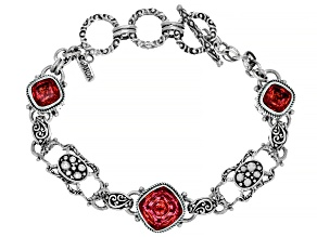 Hoity Toity™ Quartz Sterling Silver Bracelet 7.65ctw