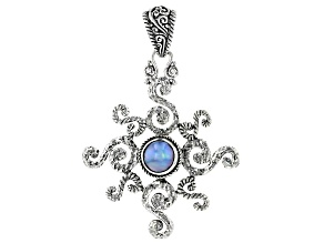 Blue Mabe Pearl Silver Pendant