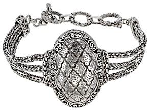 Sterling Silver Multi Row Chain Bracelet