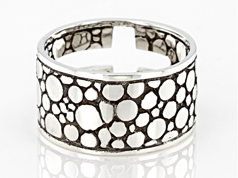 Sterling Silver Cross Band Ring