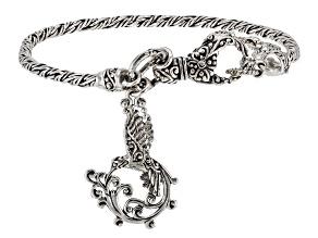 Sterling Silver Hummingbird Charm Bracelet