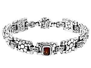 Red Madeira Citrine Silver Bracelet 2.16ctw