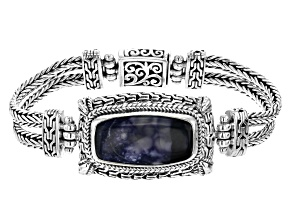 Purple Tiffany Stone Silver Bracelet
