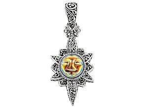 Zero Saturn™ Mystic Quartz® Silver Pendant 6.16ctw