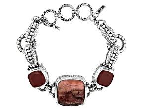 Pink Opal Silver Bracelet