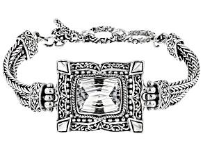 White Quartz Silver Bracelet 8.16ctw