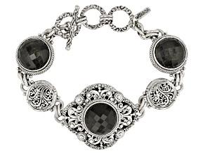 Golden Obsidian Silver Bracelet