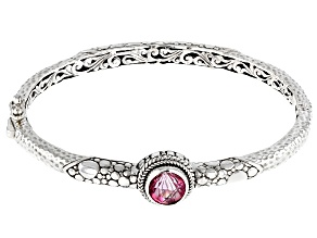 Pure Pink™ Topaz Silver Bangle Bracelet 2.81ctw