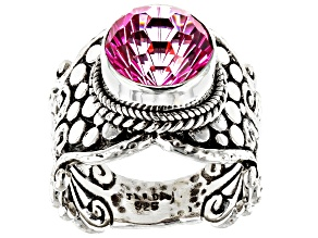 Pure Pink™ Topaz Silver Ring 4.76ctw