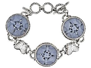 Angelite Silver Butterfly Bracelet
