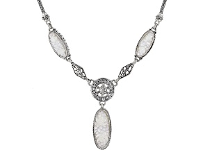 Mother Of Pearl Turtle Sterling Silver Necklace