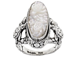 Mother Of Pearl Turtle Sterling Silver Ring
