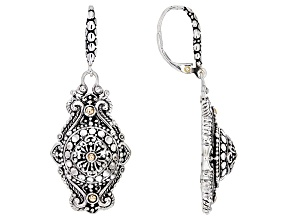 Sterling Silver And 18k Gold Accent Earrings