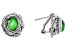 Green Tsavorite Color Quartz Triplet Silver Dragonfly Earrings