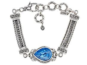 Swiss Blue Topaz Silver Bracelet 7.99ctw