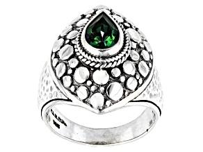 Bali Hai Green™ Topaz Silver Solitaire Ring 1.36ctw