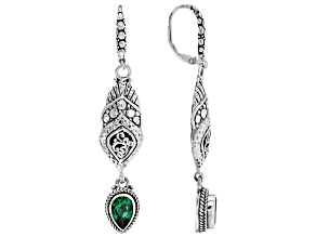 Bali Hai Green™ Topaz Silver Dangle Earrings 2.72ctw