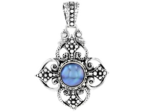Blue Mabe Pearl Sterling Silver Pendant